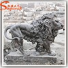 Guangzhou outdoor Stone Lion sculpture,White Marble Stone Lion Sculpture large Animal sculpture