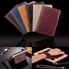 Side flip Tablet pc leather case for iPad Mini 4 Wallet case for ipad air stand Universal tablet case