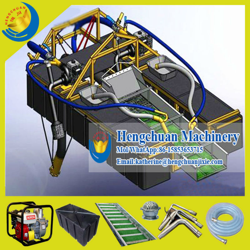 Chinese Manufacture Double Gasoline Pump Driven Portable Gold Dredge Boat