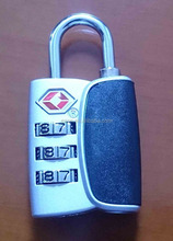 Zinc alloy TSA luggage combination padlock/3 digital travel TSA luggage combination lock/TSA password padlock