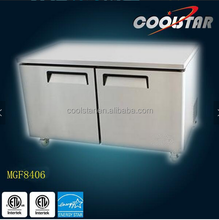 2 door stainless steel commercial undercounter reach-in chiller