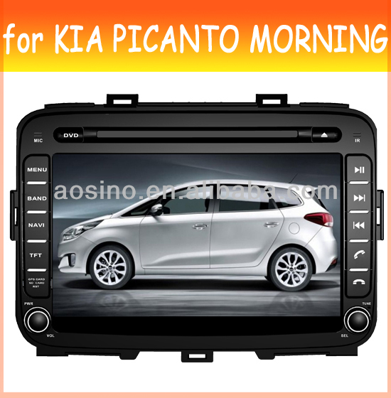 car audio radio car dvd player for KIA PICANTO MORNING 2011-2012 with bluetooth gps navigation