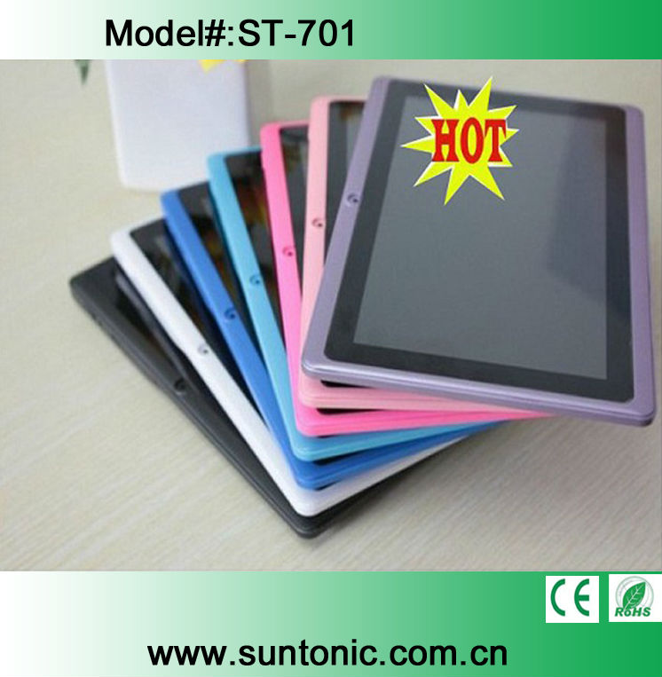 "7"" Q88 Android 4.0 4GB Tablet PC Capacitive Screen Super Slim Black/White/Blue/PInk/Red"