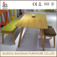Z223 Malaysian oak furniture dining table set solid wood korean solid surface table top oak table