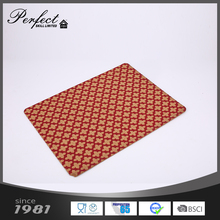 Custom cheap promotional square printing felt cork placemat