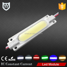 LED light module pcb aluminum 180lm 2w injection cob led module 12v with lens for channel letter
