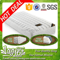 Breathable air vent single size pocket spring mattress providers