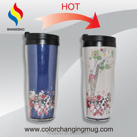 Bulk Items Hot Sale Double Wall Color Changing Magic Sport Travel Bottle
