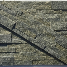 Chinese suppliers high quality upscale wall ocean green natural slate culture stone panel