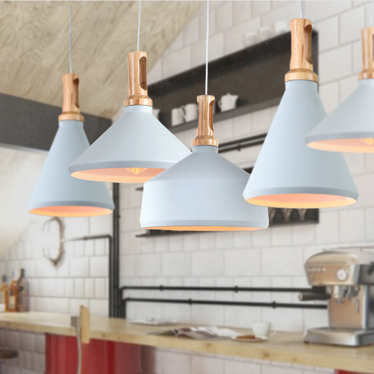 Modern nordic cretive style white iron Funnel shape RH Loft metal pendant lamp/lighting for home