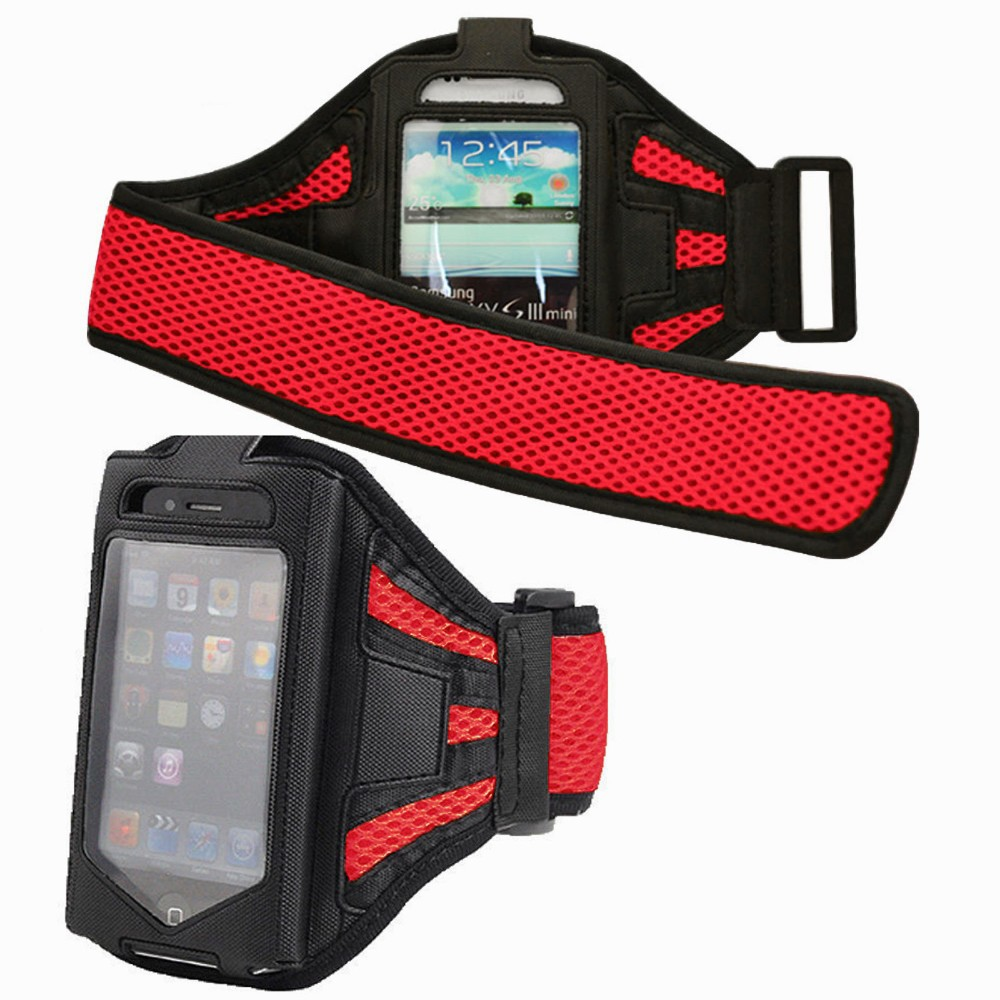 Wholesale custom jogging sport cell phone armband built in key holder
