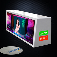 Waterproof IP65 3G control taxi LED screen advertising , P3 double sided taxi roof advertising led display