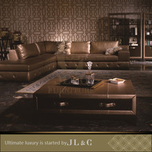 Luxury Living Room JT10-4 Newest Design Leather Cover Coffee Table With Drawer From JL&C Luxury Home Furniture
