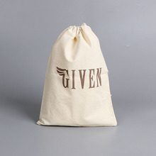High quality custom print logo drawstring cotton shoes dust bag