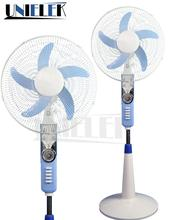16 inch 12V dc stand fan parts oscillating ventilator radiator cooling fan with light