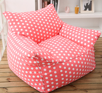 hotsell pink with white dots bean bag armchair cotton canvas bean bag sofa cover factory