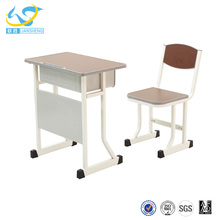 2017 new design for students study table and chair with drawer