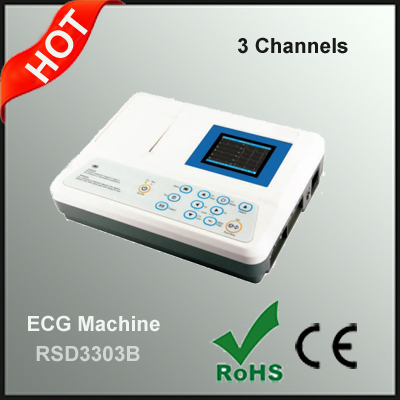 Digital 3 Channels ECG Machine Electrocardiograph
