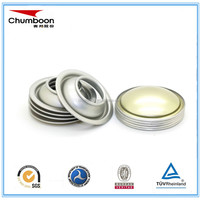 Diameter 45mm metal top srew caps for brake oil products