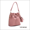 wholesale alibaba Taiwan High Quality PVC Leather Women Bucket Bag
