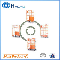 Easily assembled industrial security rolling carts