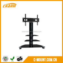 Clasical 3 Tiers Tempered Glass Outdoor TV Stands