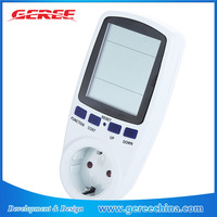 EU digital Power Consumption Energy Watt current Voltage Meter timer Electricity Monitor