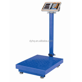 Foldable rotatable electronic platform scales