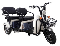 Strong frame leisure type electric tricycle for old people