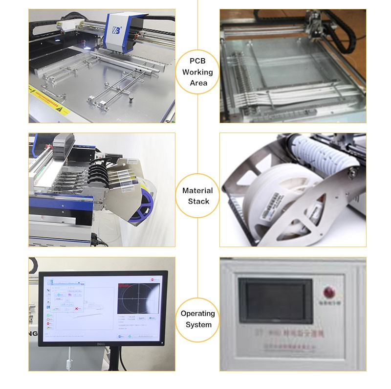 2016 the Newest Pick and Place Machine SMT330 with Servo Motor+Guide Screw and 4 placement heads