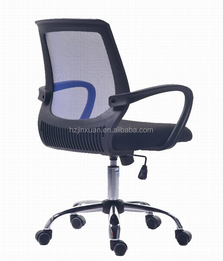 JX-1172 Easy to Clean Bright Color Boss Office Chair Elegent Curved Office Furniture Mesh Fabric Chair Middle Back Office Chair
