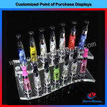 Unique design high quality acrylic e cig display rack