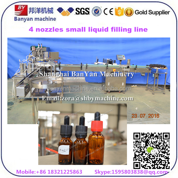 5-30ml dropper bottle essential oil / electric cigarette liquid filling 222 machine, e-liquid filling machine