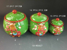2016 Christmas Lovely Snowman Ceramic Canister