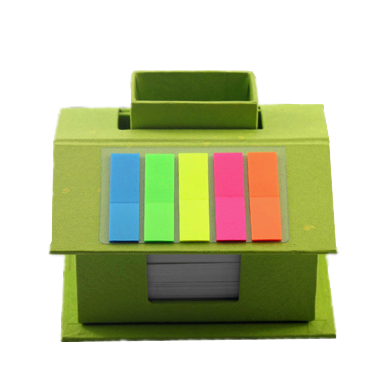 Bargain-based custom die cut house shaped sticky note