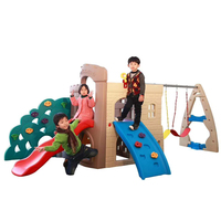 Small plastic slide kids cheap indoor climbing and plastic slide swing set