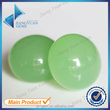 Green Round Non-faceted Glass Decorative Beads