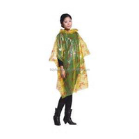 Yellow Wholesale Emergency Fashion Ladies In Plastic Raincoats