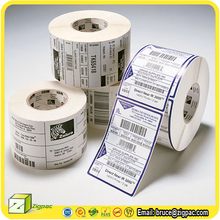 adhesive A4 printer blank white price sticker and self-adhesive anti theft product variable print data paper roll barcode label