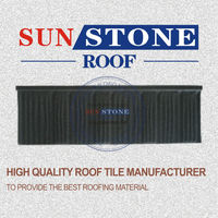 oriental red color stone coated metal steel roofing tile
