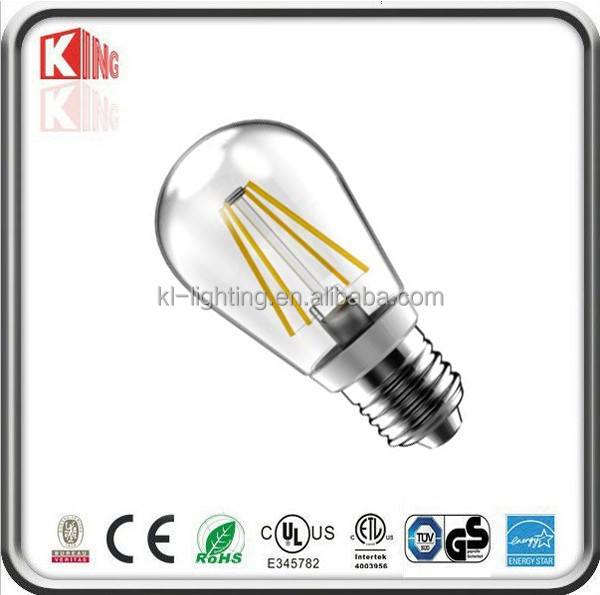 Incandescent lamp replacement 360deg A19 4w led filament bulb