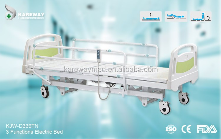 Europe type steel guard rails cheap electric hospital bed price