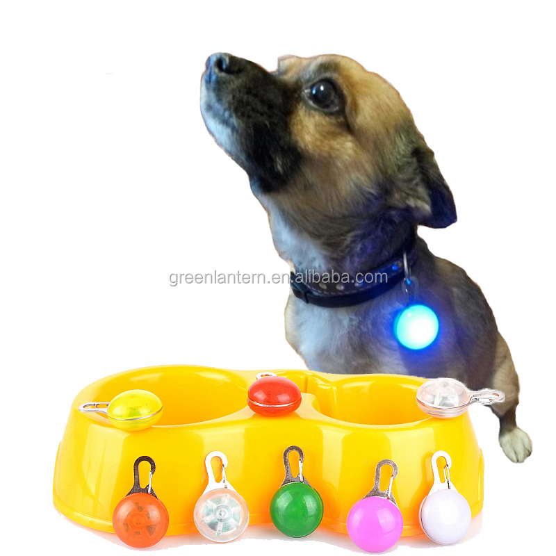 Night Safety Dog Collar Leads Lights, Push Button Switch Glow In The Dark Pets Accessories, Bright Cat Puppy Pet LED Flashlight