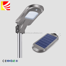 ABS housing high lumens led lamp pole mount motion sensor solar powered led light