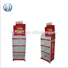 iron steel PVC board store equipment display rack for medecine HS-ZS17