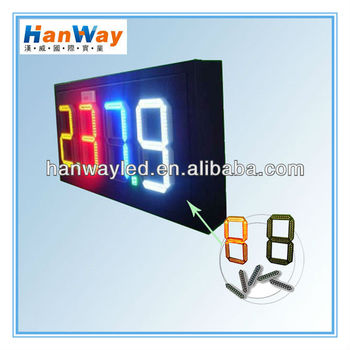 White Red LED digits Gas Price Sign Petrol Price Display