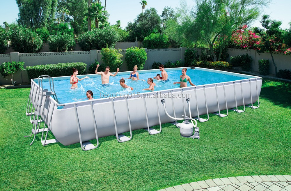round 18 ftx52 in Bestway Power Steel Frame Pools big swimming pools for garden