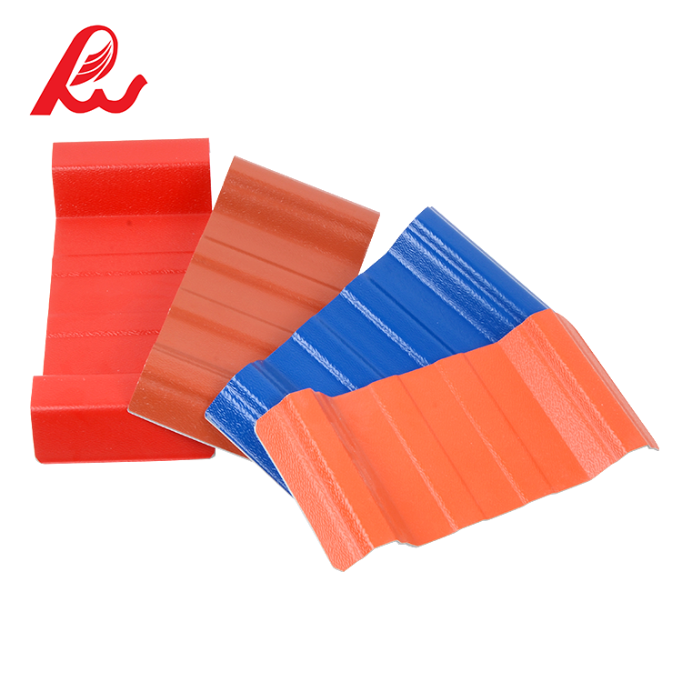 Lightweight Low Cost plastic PVC Roof Covering / ASA pvc Roof Tile