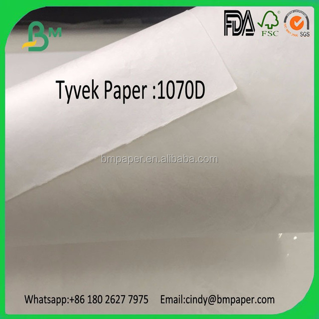 Good quality moisture proof 1070d tyvek paper for wristbands