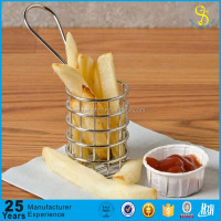 Guangzhou OEM accept mini fryer basket, round fryer basket, stainless steel french fries basket